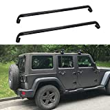 MotorFansClub Roof Rack Cross Bars Fit for Compatible with Jeep Wrangler JK 2007-2018 Jeep Wrangler JL Unlimited 2018-2021 Crossbars Luggage Rack Top Cargo Rack