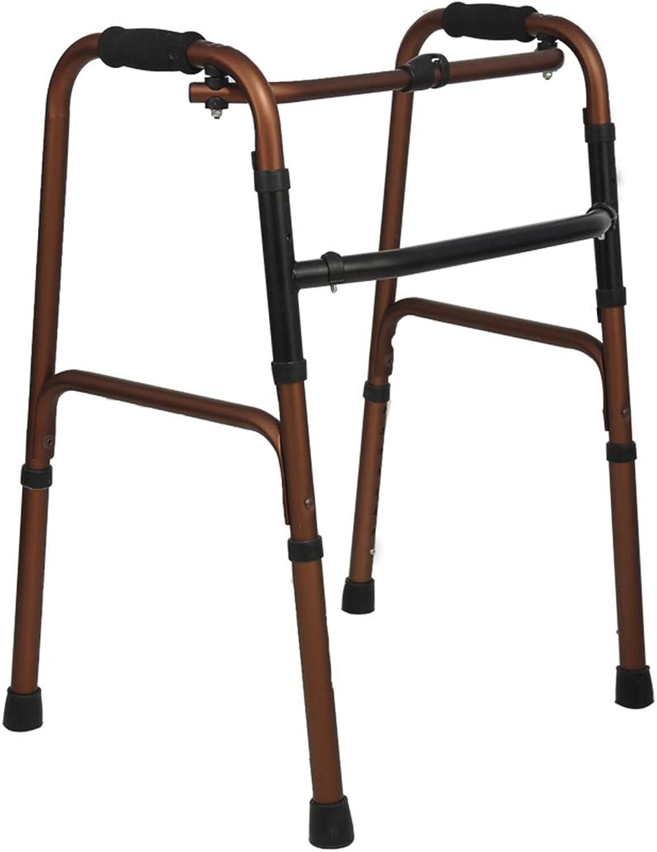 SJY Aluminium Alloy Walker Elderly Walker Auxiliary Lower Limb Training Walker Foldable Light Multifunction Crutch Behindertenmediziner Walker,B B07L5JSKQD  Der neueste Stil
