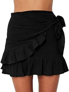 Best frill hem skirt black Reviews