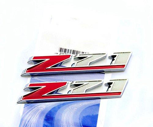 Yoaoo OEM Chrome Red Z71 Emblems for Gmc Chevy Silverado Sierra Tahoe Suburban Red