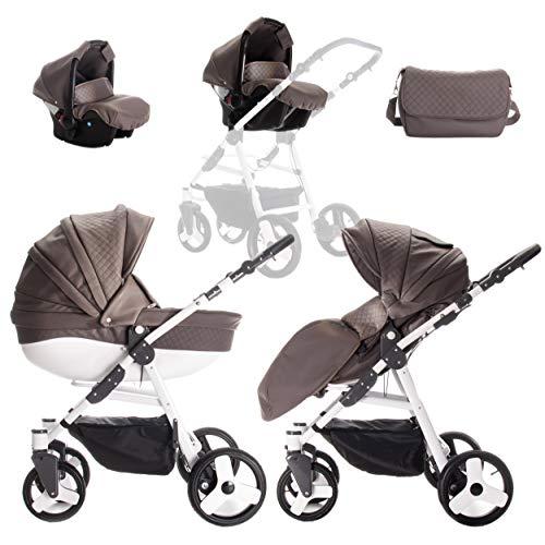 Friedrich Hugo | modèle Easy Comfort | 3 en 1 Combi Poussette | couleur : Taupe & Eco en cuir