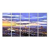 Quadri Moderni Bello Tramonto sopra Il Fluss Arno a Firenze, Italia, HDR Stampa su Tela - Quadro x poltrone Salotto Cucina mobili Ufficio casa - Fotografica Formato XXL CWD