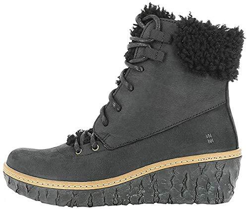 El Naturalista N5139 Myth Yggdrasil Damen Keilstiefeletten,Frauen Stiefel,Boots,Halbstiefel,Wedge-Bootie,gefüttert,Winterstiefeletten,Black,EU 40