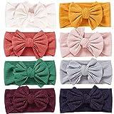 Simoda Fascia per capelli in nylon per neonati e bambini, estremamente morbida ed elastica 8 pezzi #3. M