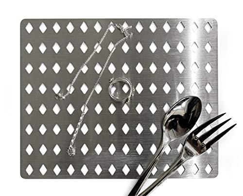 SHPprofessional Silber, Gold, Schmuck,-Reinigungsplatte / 19x16cm mit Diamantlochung, reinigen Sie Schmuck ohne Agressive Reinigungsmittel o. schädl. Ultraschall