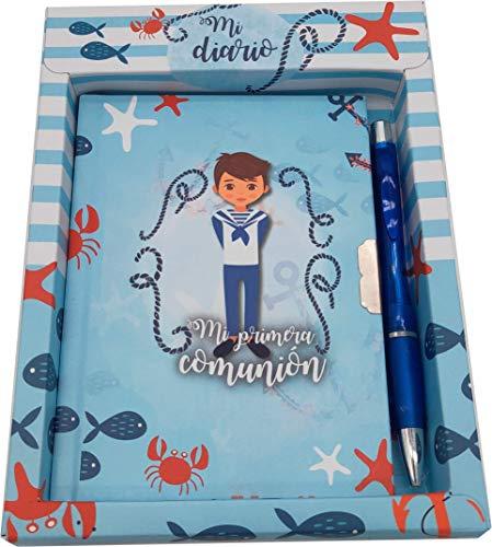 Lote de 20 Set Diario Y Bolígrafo Mi Primera Comunión Niño - Diarios, Libretas para Comuniones, Regalos, Detalles y Recuerdos Originales