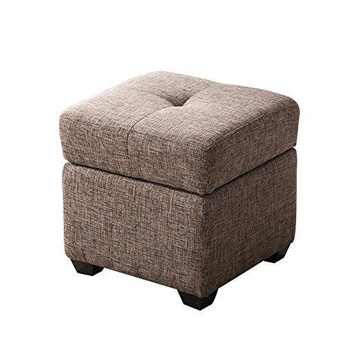 ZXQZ Tabouret coloré en bois solide / tabouret de chaussure de Foyer / tabouret de stockage de chambre à coucher (6 couleurs facultatives) repose-pieds de stockage ( Couleur : Marron clair , taille : 40*60cm )