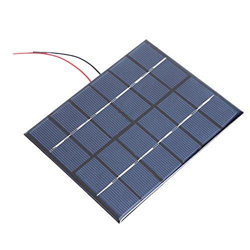 domybest Portable 2W 6V 330mA polysilicon Solar Power Panel DIY Kit Akku Panel