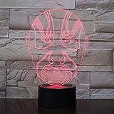 3D Luce Notturna per i Bambini con Decor Lampada Opera Face 3D Night Light Vision Led Cambiamento USB Camera Da Letto Comodino Luce Notte Bambino Creativo Desk Lamp Regalo di Compleanno per i Bambini