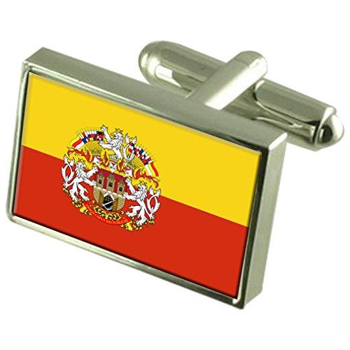 Preisvergleich Produktbild Select Gifts Prag Tschechische Republik Flagge Manschettenknöpfe graviert Box