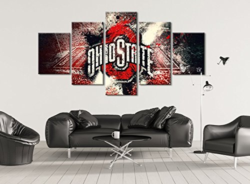 Ohio State Buckeyes Football Canvas || Modern Sports Wall Art - Hand Made In The US- Framed And Ready To Hang