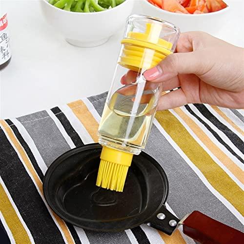 Alta temperatura resistente a la pequeña cepillo de aceite Cocina Botella de aceite Botella Barbacoa Pincel Cocina Hornear Silicona Pincel de hornear Caja de condimentos