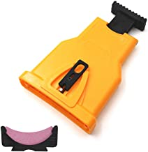 PAMISO Chain Saw Sharpeners, Universal Chainsaw Teeth Sharpener, Fast Sharp Sharpening Stone Grinder Tool Fit for 14/16/18/20 Inch Two Holes Chain Saw Bar