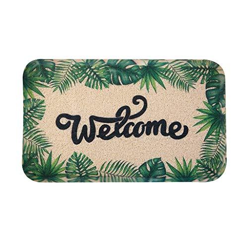 Fantastic Prices! CarPet Floor mat for Door Entry Bathroom Green Silk Ring mat