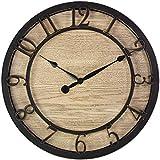 PresenTime & Co 10' Farmhouse Series Wall Clock, Cottage Style, Vintage Design, Oil Rubbed Antique Bronze Finish