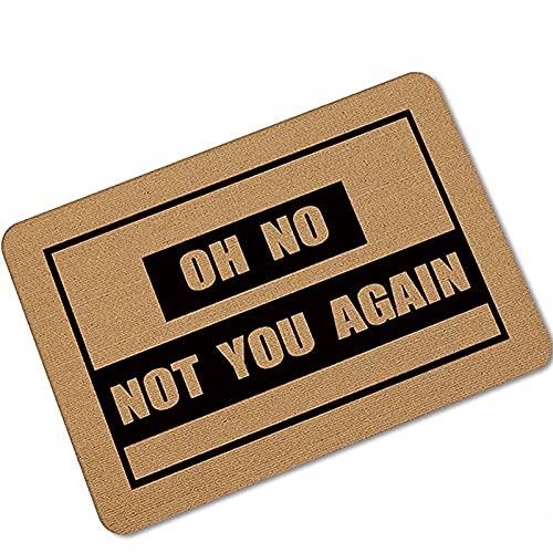 Oh No Not You Again - Felpudo para puerta interior, exterior, puerta delantera, alfombrilla de entrada, 27.5 x 47.2 pulgadas