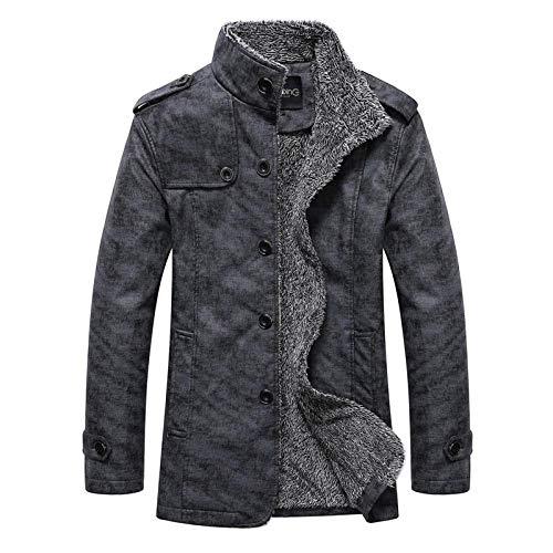 XIEZINB Jassen Winter Herenrevers wassen Zakelijke Casual Mode Trend Leer