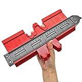 Contour Gauge Duplicator con serratura, 10in DIY Profilometro Copia Strumento di Forma Irregolare Righello di Misura per Angoli Piastrelle Laminato Lavorazione del Telaio Circolare(10IN-Red)