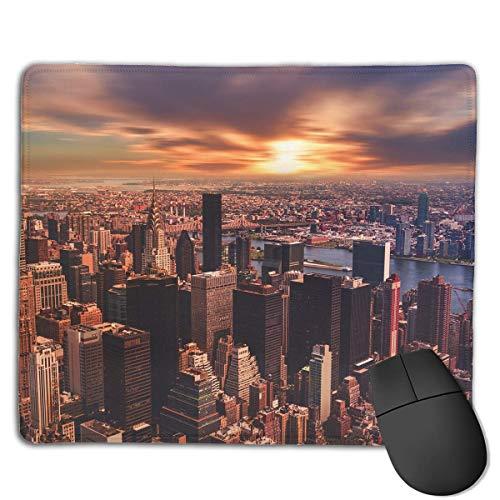 Alfombrilla de ratón New York City Sunset Rectangular Mousepad Antideslizante Gaming Mouse Pad Alfombrilla de ratón 25X30CM