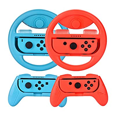 Bluechok Grips for Nintendo Switch and Steering Wheel Controller