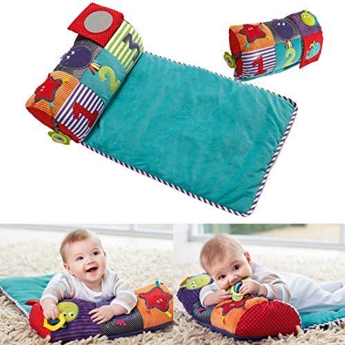 K9CK Spielkissen, Baby Spieldecke Spielmatte, Kinder Matte mit Babyspiegel, Beißring, für 0-3 Jahre alt