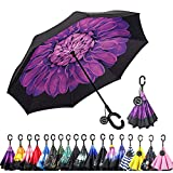 Best Brella Umbrellas - Monstleo Double Layer Inverted Umbrella Cars Reverse Umbrella Review