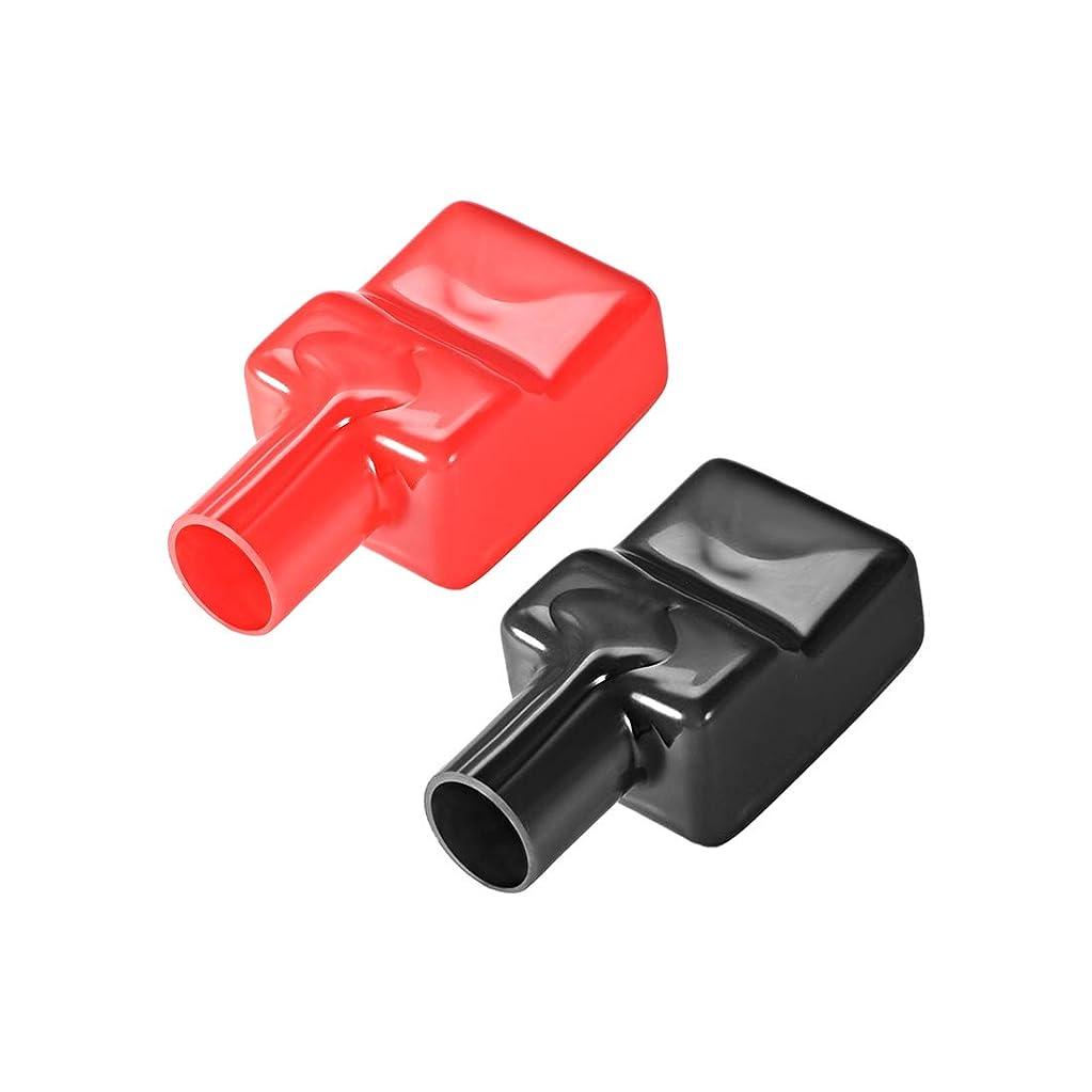 不均一おしゃれじゃない多様体uxcell バッテリー端子保護カバー フレキシブル 絶縁ゴム ケーブル15mm レッド ブラック 1ペア入り