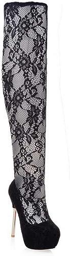 1TO9 MNS03380, Sandales Compensées Femme - Noir - Noir, 36.5 EU