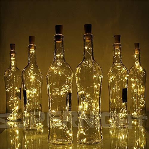 No-branded PDHCC 10pcs Copper Wire String Light 2M 20-LED With Bottle Stopper for Glass Bottle Decoration String Lights Light