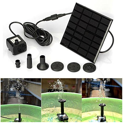 Celiy Solar Pump, Solar Water Panel Power Fountain Pump Kit Pool Garden Pond Watering Submersible, Home Accessories Home Decorations Gifts