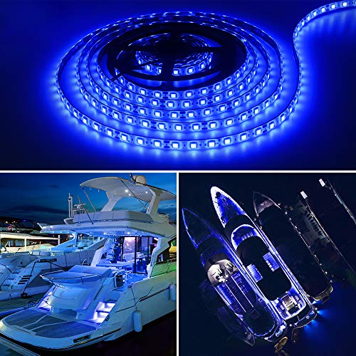 Obcursco Pontoon LED Light Strip, Waterproof Marine LED Light Boat Interior Light Boat Deck Light for Night Fishing. Ideal for Pontoon and Fishing Boat