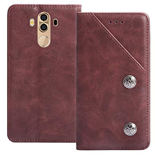 YLYT Flip Rot Schutz Hülle Hülle Für M-Horse Pure 3 5.7 inch Etui Leder Tasche Handyhülle Hochwertiges Stoßfeste Kartenfach Cover