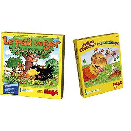 HABA-Le Petit Verger, 003460 & 5567 - Petites Chenilles Multicolores