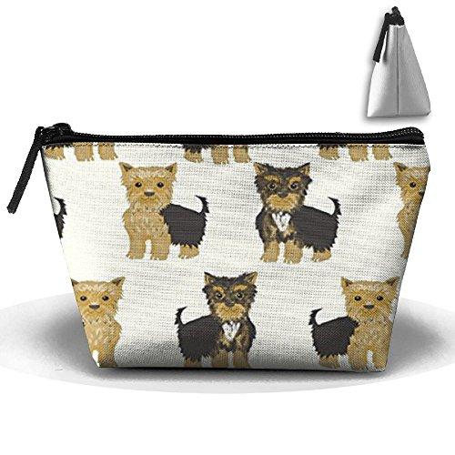 Bolsa de cosméticos portátil, Yorkshire Terrier, diseño de perro Yorkshire perro mascota funda de viaje para maquillaje Toiletry Wash organizador