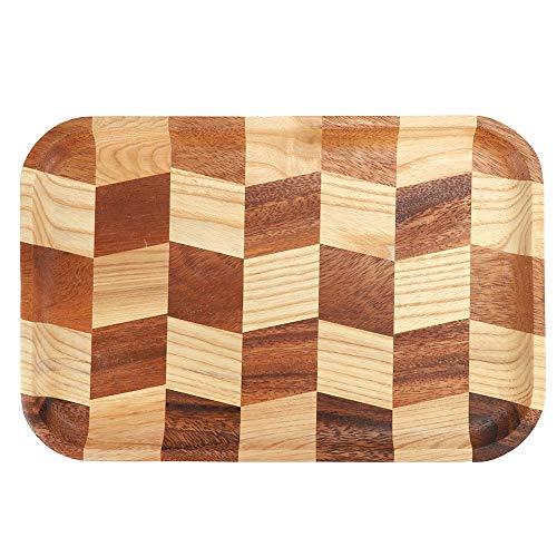 Cosiki Wood Cheese Board, Holz-Sushi-Servierteller Teller Geschirr im japanischen Stil Home Restaurant Servierteller(30 x 20 cm)