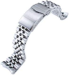 Bracciale per orologio 22mm ANGUS Jubilee in acciaio 316L con cinturino per Seiko SKX007, spazzolato/lucido, chiusura a V