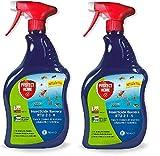 PROTECT HOME - Pack de 2 - Insecticida Barrera Protección Total, Control de Insectos Voladores y Rastreros, Pulverizador, 750 ml, Color Verde Agua