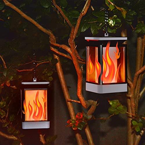 CWW Luz Solar Exterior Jardin Decoración 3 Tipos de Luces de Llama LED Luz de iluminación de Paisaje IP65 LED de Ruta Solar a Prueba de Agua Luces