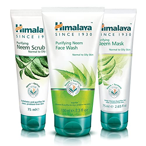 Himalaya Herbals Purifying Neem Face Wash with Face Scrub & Face...
