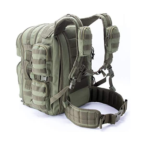 Military Tactical Backpack For Men With Battle Gun Belt MOLLE and Hydration Compatible