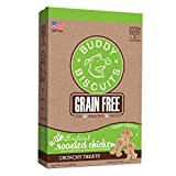HEALTHY DOG TREATS – Wholesome, oven baked, grain free dog biscuits that keep things deliciously simple with natural chicken. SIMPLE INGREDIENTS – Buddy Biscuits dog snacks are made with no added gluten, corn, soy, yeast, sugar, salt, fillers, artifi...