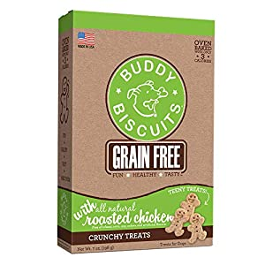 Buddy Biscuits, Grain Free Oven Baked Crunchy & Teeny Treats for Small or Toy Breed Dogs, Baked in USA