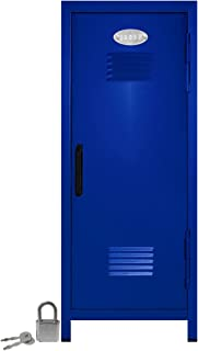 Mini Locker with Lock and Key Blue -10.75