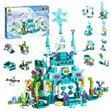Holiky Building Toys for Girls, Educational Learning Construction Toys Set, Building Block Toys with Ice Palace Castle Style Birthday Gifts for 6 7 8 9 10+ Years Old Girls (554 pcs)