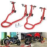 YORKING Motorrad Montageständer für vorne und hinten 2 Stück Set Motorradheber für Hinterrad Hinterradständer