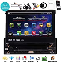 Android 10.0 Car Stereo System Single Din 7 inch Touch Screen in Dash 1 Din GPS Navigation Headunit One Din Car Radio Bluetooth WiFi Mirrorlink Rear Camera Input SWC Car DVD Player 7 Color LED Light