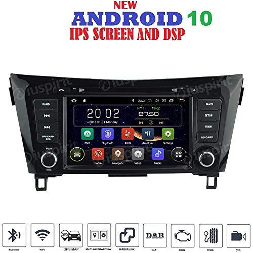 ANDROID 10 GPS DVD USB SD WI-FI autoradio 2 DIN navigatore Nissan Qashqai/Nissan X-Trail 2014, 2015, 2016, 2017, 2018