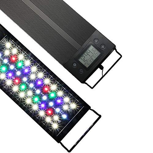 Aquarium Beleuchtung, LED Das ganze Spektrum Aquarium Licht 18W 30cm mit EU -Stecker mit Timer, dimmbare Helligkeiten LED Lampe für Unterwasser Leuchte Lighting Wasserdicht IP68 Aquarium Fisch Tank