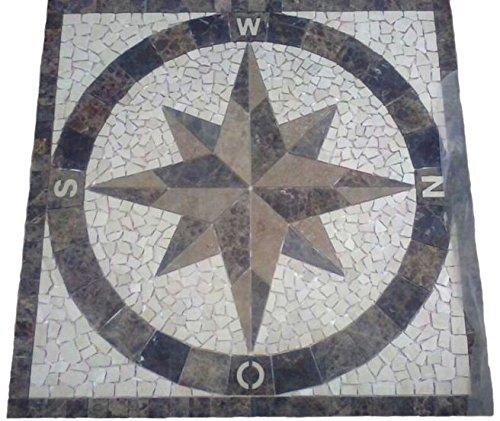 Mármol Rosone 120 x 120 cm windorse mosaico de los depositantes de piedra natural de la brújula de azulejos