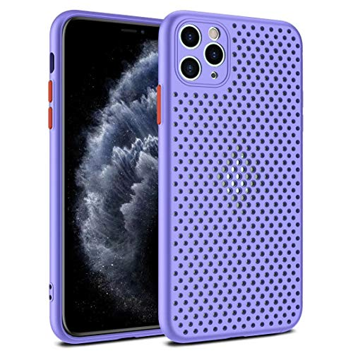 Coque pour iPhone 11 Coque Silicone Liquide Anti-Choc Ultra Mince Solide AIR Cushion Protection Coin Housse pour iPhone 11 (violet)